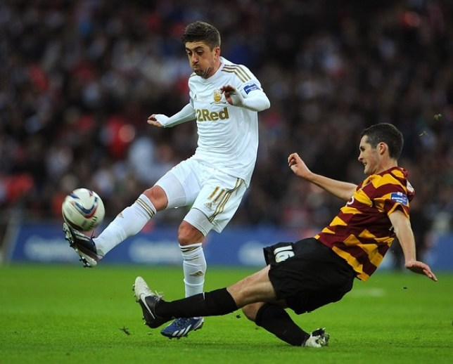 Pablo Hernandez was delighted with the performance of his team-mates in Swansea's League Cup win (Picture: Getty)