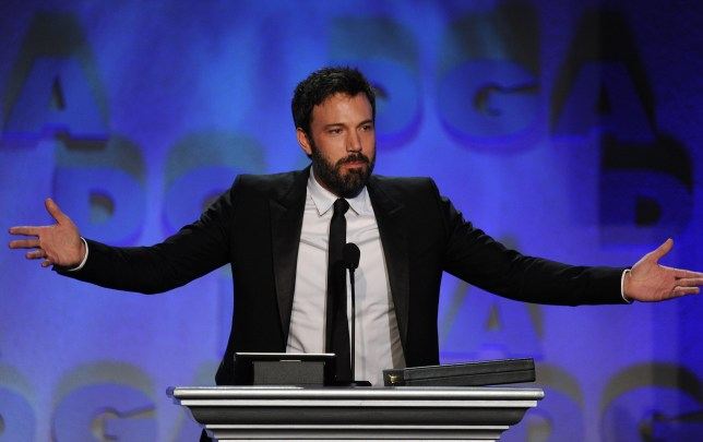 Ben Affleck accepts the Outstanding Directorial Achievement in Feature Film for 2012 award for Argo (Getty)