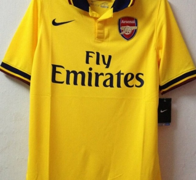 buy online 140ac 2259a Arsenal and Manchester City 2013/2014 kits leaked | Metro News