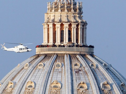 Benedict XVI leaves Vatican for the last time after final appearance as Pope