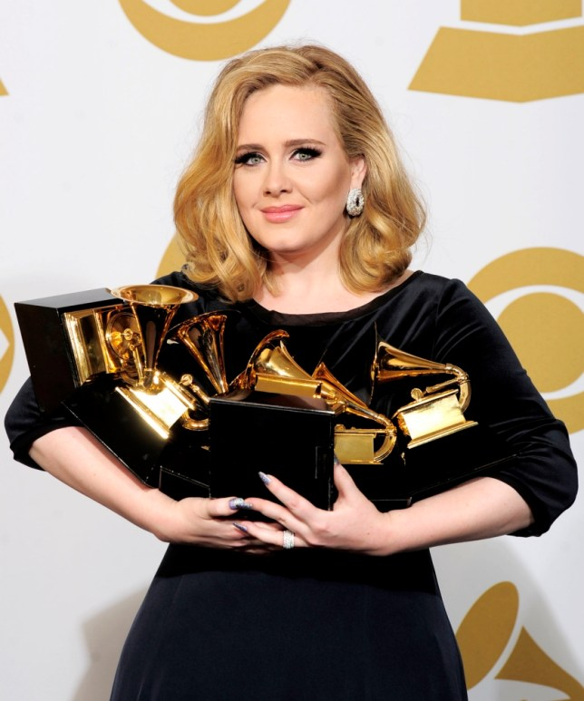 Adele at the Grammys 2012