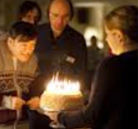 Derek celebrates his birthday (Picture: Ricky Gervais/Twitter)