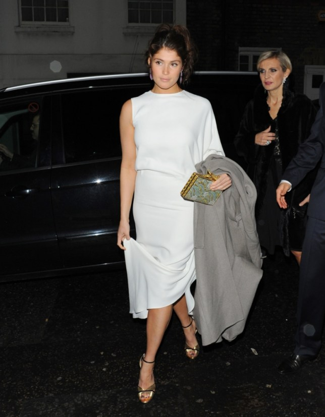 Gemma Arterton looked glamorous but sad at the pre-Baftas party