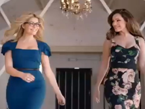 Kelly Brook and Holly Willoughby leave Keith Lemon drooling as they show off their curves in Celebrity Juice trailer
