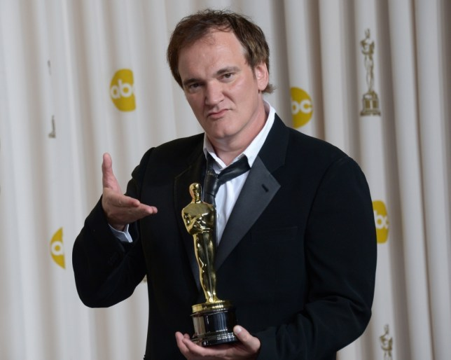 Quentin Tarantino with the Oscar for Best Original Screenplay received for Django Unchained during the 85th Academy Award