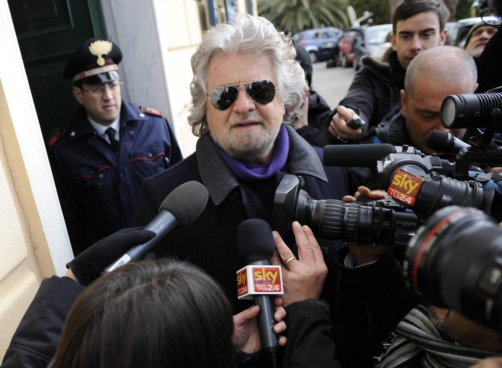 Former comedian Beppe Grillo wins a quarter of votes in Italy elections