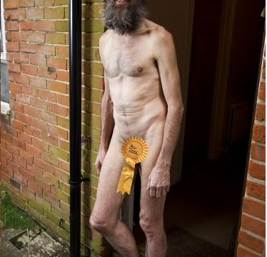 Naked rambler pins colours to the mast as by-election fever grips Eastleigh