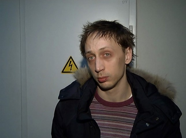 Confession: Ballet soloist Pavel Dmitrichenko answers questions after his arrest in Moscow (Picture: Reuters)