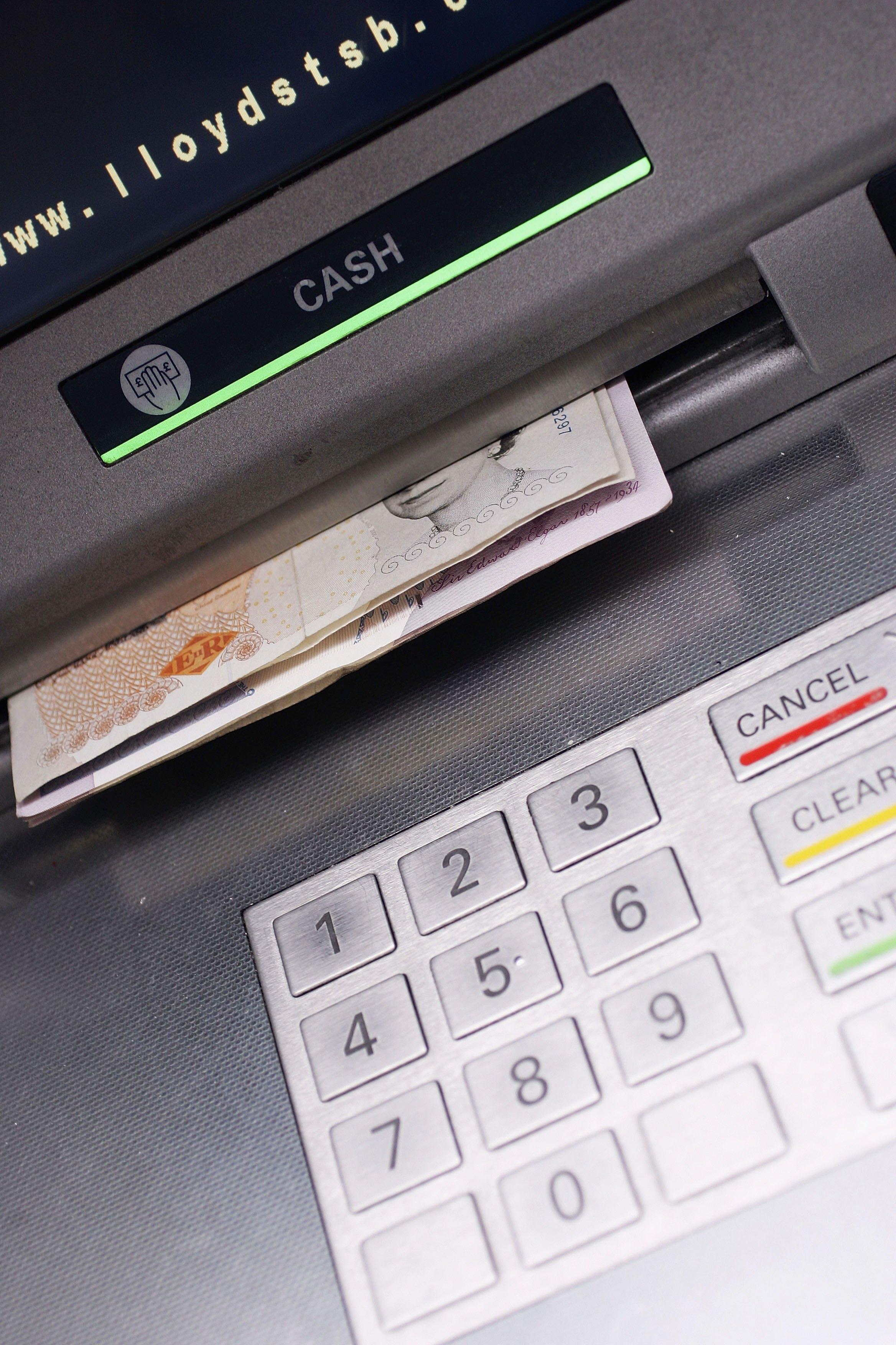 pin machine, ATM