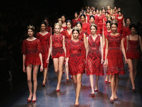 Romantic lace for Dolce & Gabbana at Milan Fashion Week