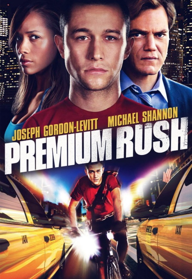 Premium Rush features relentless bicycle-related action