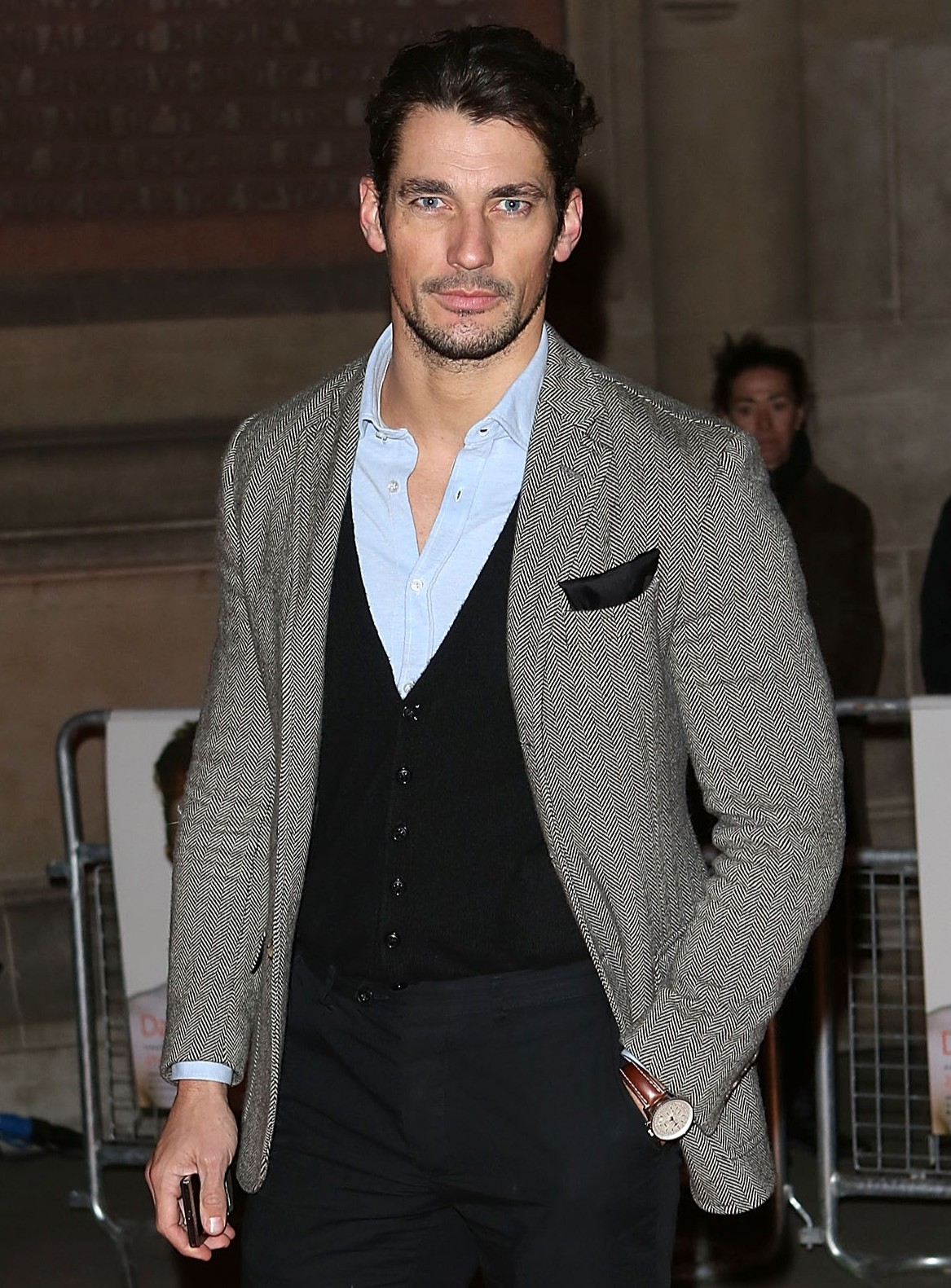 David Gandy: The London Collections: Men ambassador could get away with most looks (Picture: Getty)