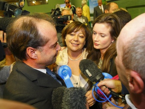 Conservative candidate Maria Hutchings speechless after coming third in Eastleigh by-election