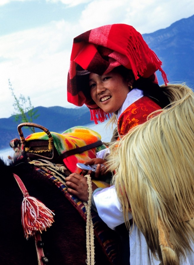 A  Mosuo woman from China's Yunnan province