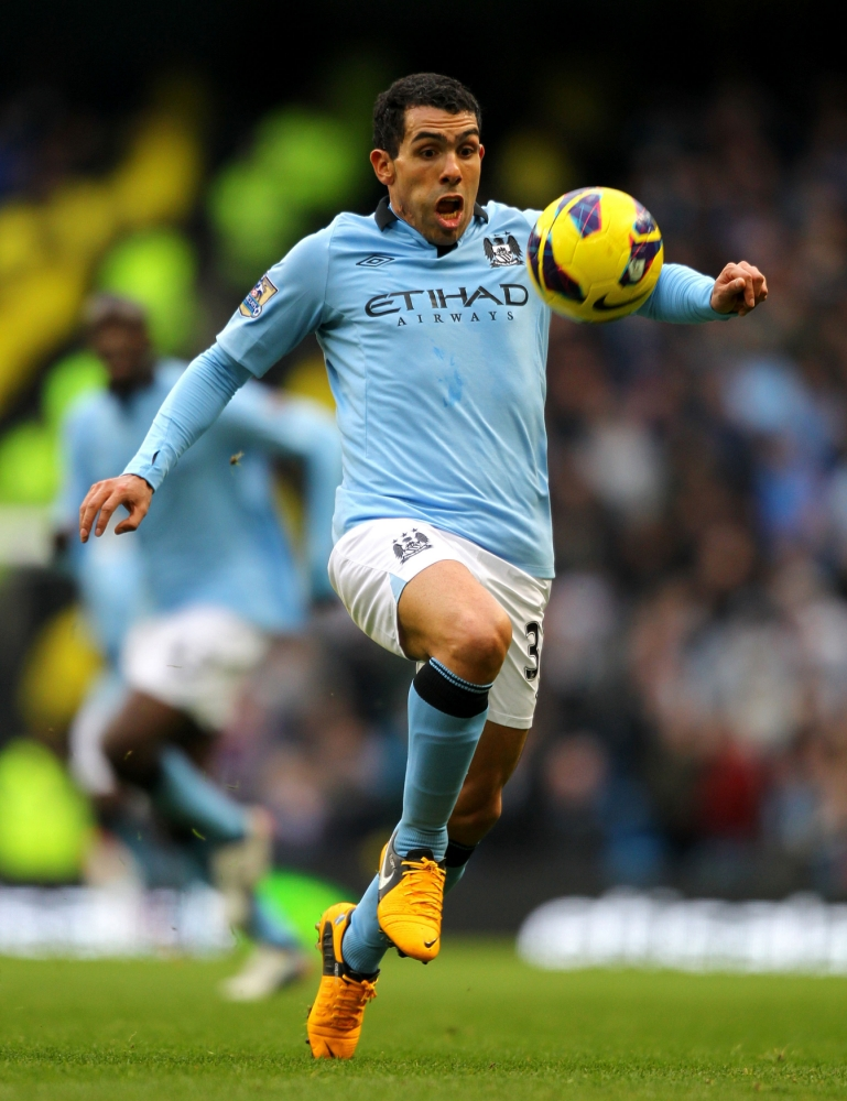 Manchester City's Carlos Tevez, arrested