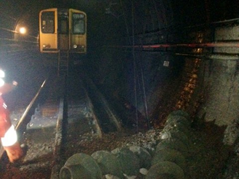 Rail staff prevent crash near Old Street station after drills come through tunnel wall