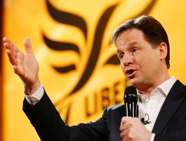 Britain's Deputy Prime Minister, and Leader of the Liberal Democrats, Nick Clegg, answers question during a question and answer session at the party's spring conference in Brighton, southern England March 9, 2013.  REUTERS/Luke MacGregor  (BRITAIN - Tags: POLITICS SOCIETY)