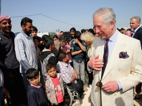 Syria refugees 'turned away' from Jordan camp visited by Prince Charles