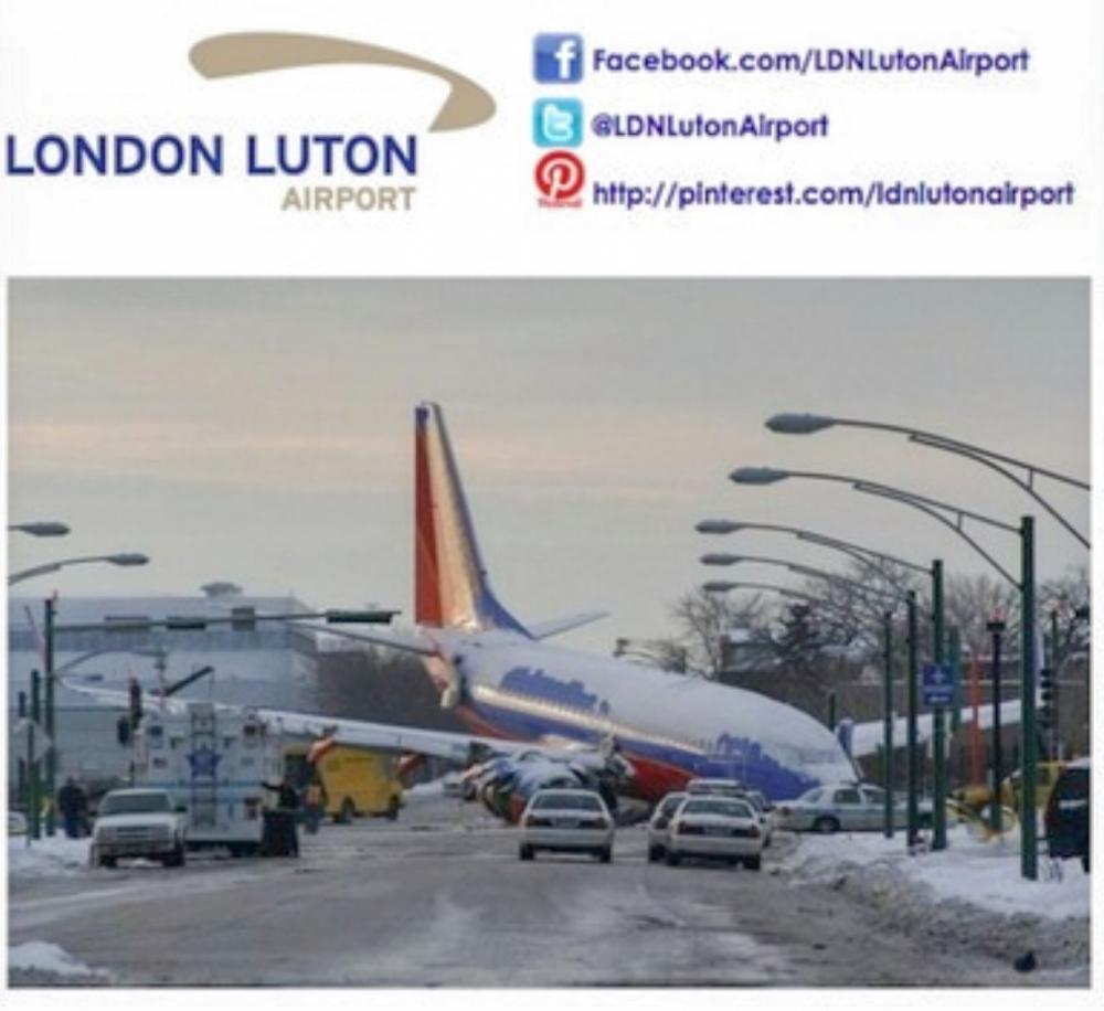 Luton Airport posts Facebook joke about Chicago plane crash which killed boy