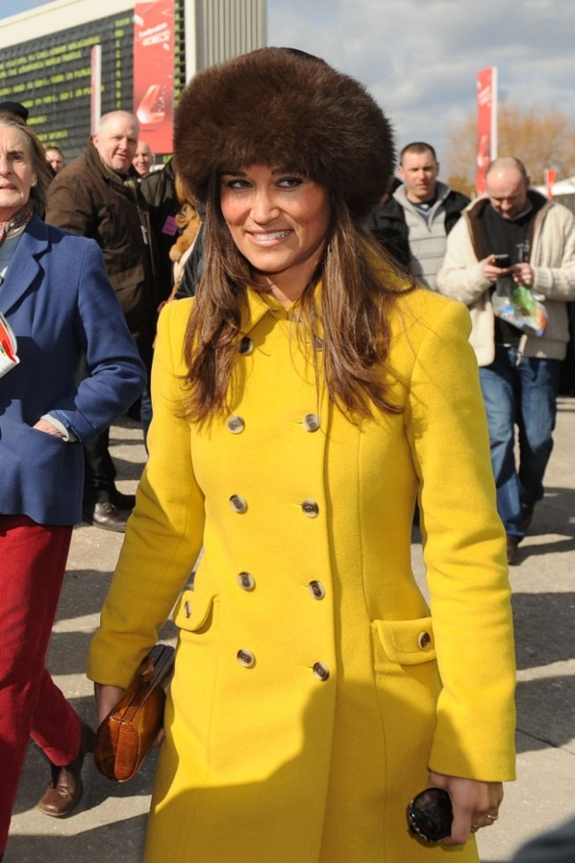 Pippa Middleton arrives on St Patrick's Thursday of the 2013 Cheltenham Festival, Cheltenham Racecourse, Gloucestershire. PRESS ASSOCIATION Photo. Picture date: Thursday March 14, 2013. See PA story RACING Cheltenham. Photo credit should read: Joe Giddens/PA Wire