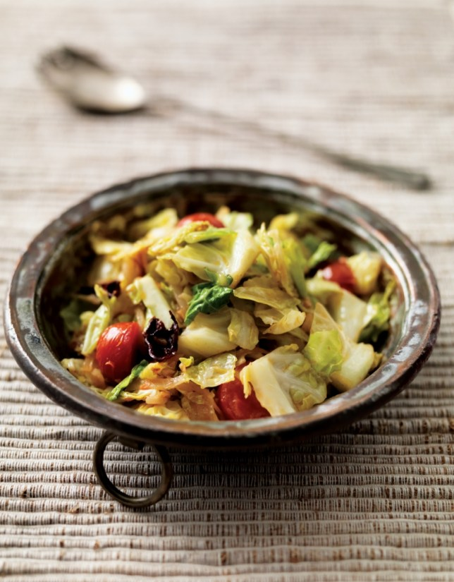Atul Kochhar's South Indian cabbage poriyal recipe from his new cookbook is the perfect side dish (Picture: Mike Cooper)