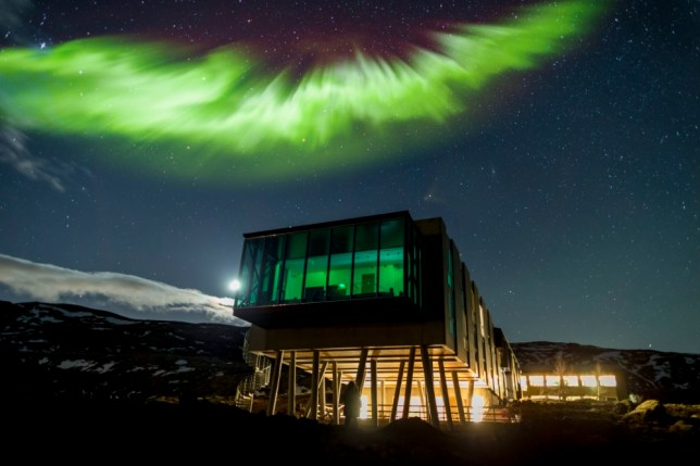 The Northern Lights explode with colour above Iceland's ION hotel (Picture: Ragnar Th. Sigurdsson/Arctic Images)