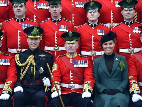 Gallery: Pregnant Kate and William mark St Patrick's Day