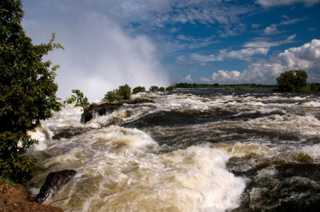 Up to ten million litres of water cascade over the falls a second (Picture: Alamy)