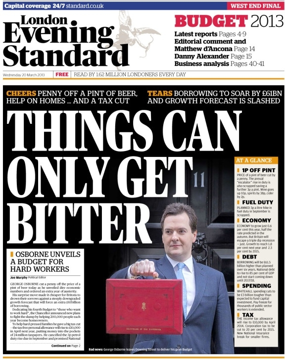 Evening Standard apologises for tweeting budget details before chancellor's speech