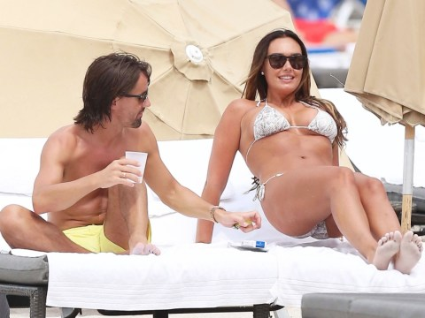 Tamara Ecclestone and new husband Jay Rutland show off diamond wedding bands as they continue to celebrate their union