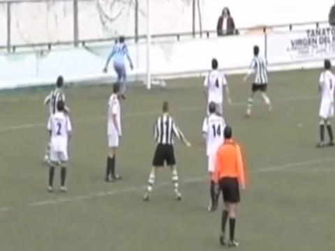 VIDEO: Spanish referee awards bizarre phantom goal