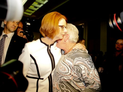 Julia Gillard wins leadership poll unopposed amid apology over forced adoption policy