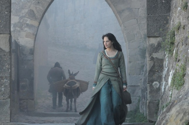 Jessica Brown Findlay says she has a lot of fun filming Labyrinth (Picture: Channel 4)