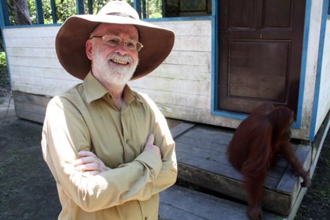 Terry Pratchett returns to Borneo in Terry Pratchett: Facing Extinction (Picture: BBC)