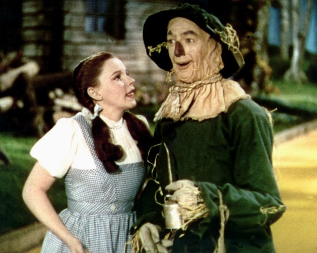 Judy Garland with the scarecrow in The Wizard Of Oz (Picture: Allstar Collection)