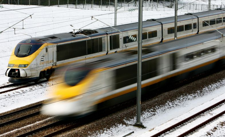 Eurostar services are suffering major delays due to the snow