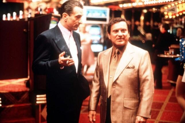 "Film: ""Casino"" (1995) starring Robert de Niro and Joe Pesci LICENCE EXPIRY DATE: 31.8.98 (C) THE MOVIE CHANNEL"