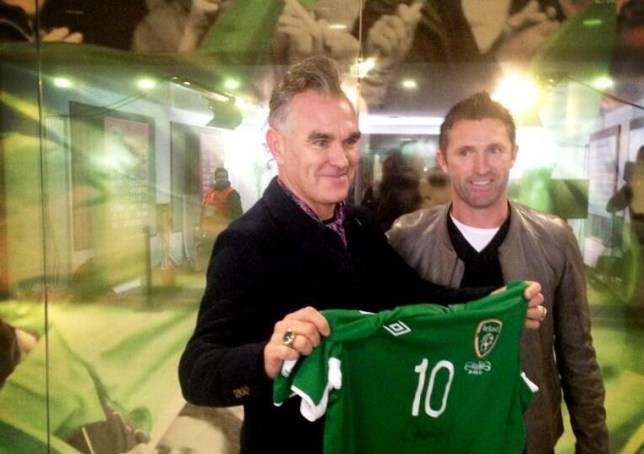 Morrissey and Robbie Keane