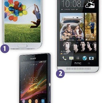 Samsung Galaxy S4, HTC One and Sony Xperia Z: Top-end smartphones