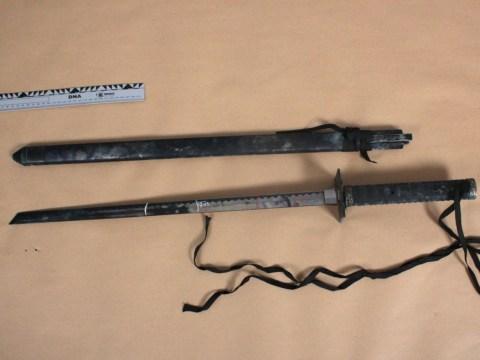 Joss Stone 'samurai sword murder kit' shown to Devon court