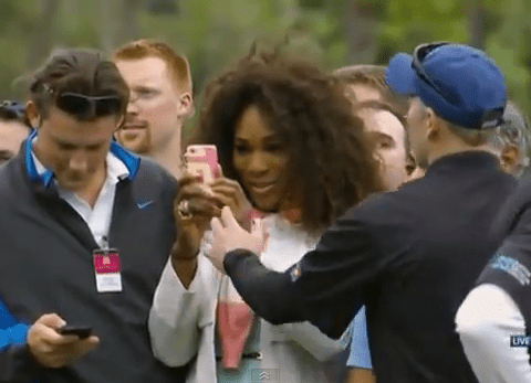 Serena Williams 'told off' for trying to take picture of Tiger Woods at Honda Classic