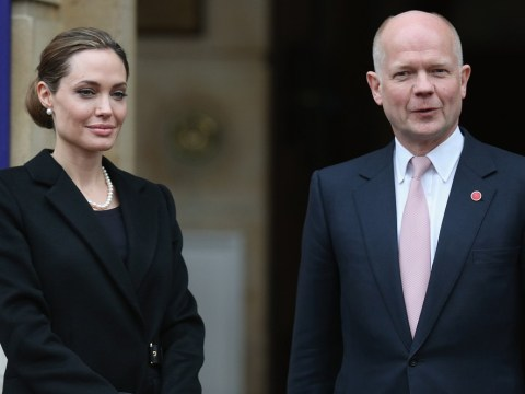 Angelina Jolie and William Hague pledge help for warzone sexual violence victims
