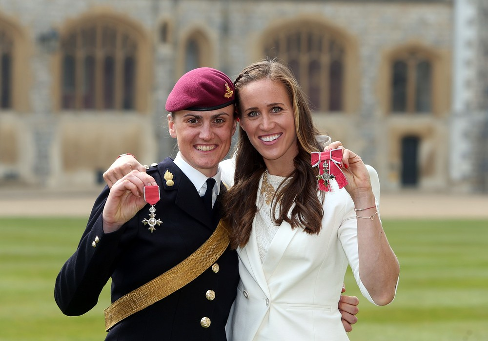 Gallery: Helen Glover and Heather Stanning receive MBEs – 10 April 2013