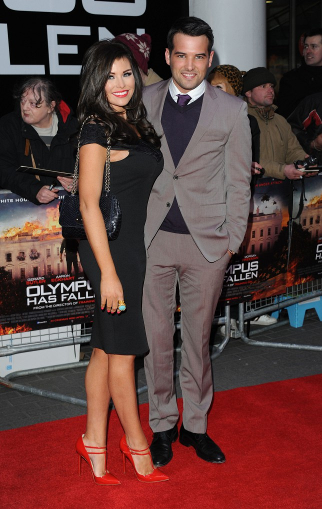 Jessica Wright and Ricky Rayment attend the UK Premiere of 'Olympus Has Fallen' (Getty)