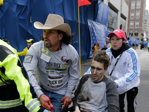 Cowboy hat-wearing hero tends to Boston marathon victims