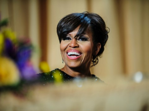 Michelle Obama confronts gay rights heckler at fundraising event