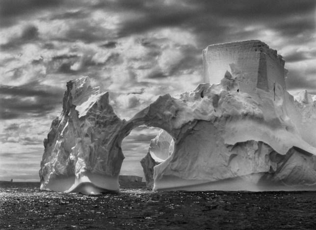 Sebastião Salgado's photograph of an iceberg between Paulet Island and the South Shetland Islands (Picture: Sebastião Salgado/Amazonas Images)