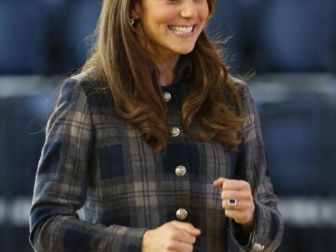 Kate Middleton wears tartan as she visits 2014 Commonwealth Games venue in Glasgow