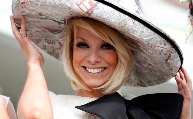 Singer Liz McClarnon arrives at Aintree during Ladies Day at the 2013 John Smith's Grand National Meeting at Aintree Racecourse, Sefton. PRESS ASSOCIATION Photo. Picture date: Friday April 5, 2013. See PA story RACING Aintree. Photo credit should read: Dave Thompson/PA Wire