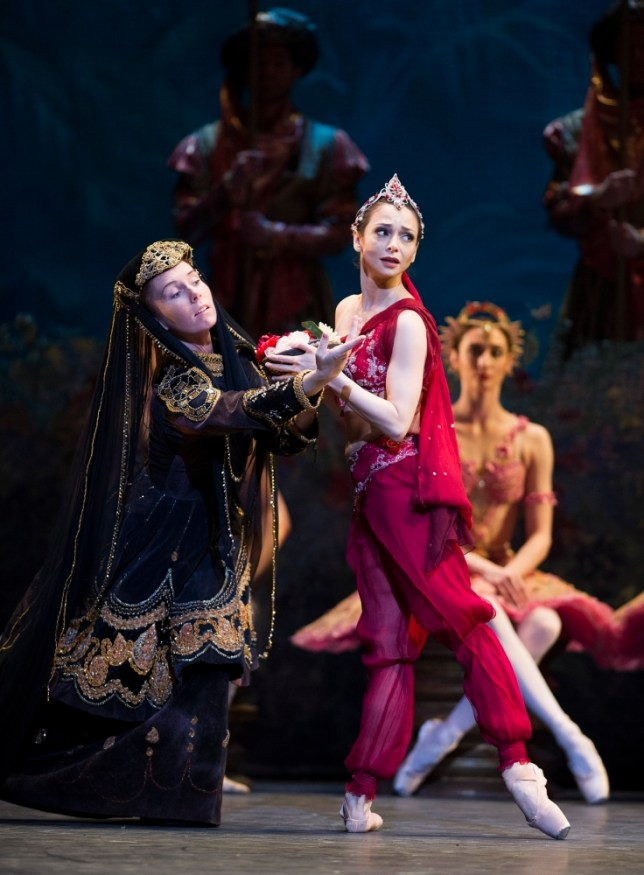 Roberta Marquez, in red, steps in for the injured Alina Cojocaru (Picture: Tristram Kenton)